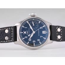 Replique IWC 7 Jours réserve Big Pilot Power 5002 avec cadran noir et bracelet-21600bph - Regarder attrayant Pilot IWC pour vous 32655