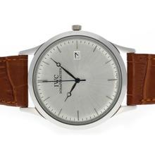 Replique IWC Classic Silver Dial-bracelet en cuir - Attractive Autres IWC montre pour vous 32499