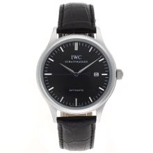 Replik IWC Classic Automatic Stick Markers with Black Dial-Leather Strap – Attractive IWC Others Watch for You 32406