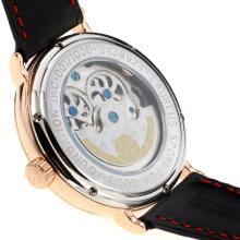 Replique IWC Portugaise Tourbillon automatique boîtier en or rose avec cadran blanc-bracelet en cuir - Attractive montre IWC Portugaise pour vous 32177