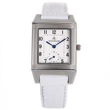 Replique Jaeger-Lecoultre Reverso cadran blanc avec bracelet en cuir blanc - Attractive Jaeger-Lecoultre Reverso Montre pour vous 33835