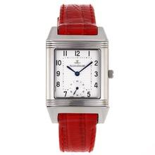 Replique Jaeger-Lecoultre Reverso cadran blanc avec bracelet en cuir rouge - Attractive Jaeger-Lecoultre Reverso Montre pour vous 33833