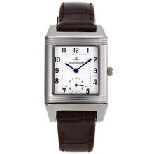 Replique Jaeger-Lecoultre Reverso cadran blanc avec bracelet en cuir brun - Attractive Jaeger-LeCoultre Reverso pour vous 33832