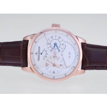 Replik Jaeger-Lecoultre Duometre Working Power Reserve Rose Gold Case with White Dial – Attractive Jaeger-Lecoultre Duometre Watch for You 34051