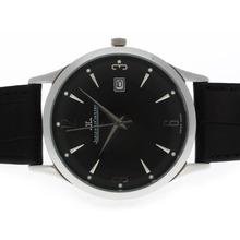 Replique Jaeger-Lecoultre classique avec cadran noir et bracelet en cuir - Attractive Jaeger-LeCoultre Regarder autres pour vous 34013