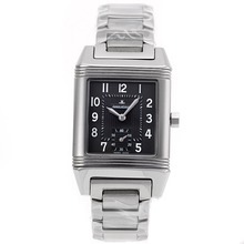 Replik Jaeger-Lecoulbre Reverso with Black Dial S/S-Sapphire Glass – Attractive Jaeger-Lecoultre Reverso Watch for You 33895