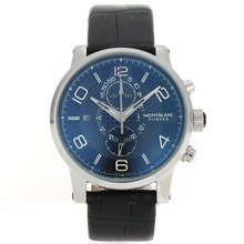 Replik Montblanc Flyback Working Chronograph with Black Dial-Leather Strap – Attractive Montblanc Flyback Watch for You 35599