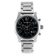 Replique Montblanc Time Walker travail Chronographe avec cadran noir - Attractive Montblanc Time Walker montre pour vous 35963