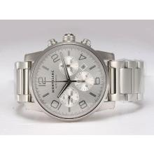Replique Montblanc Time Walker Chronographe Suisse Valjoux 7750 Mouvement avec cadran argenté - Attractive Montblanc Time Walker montre pour vous 35962