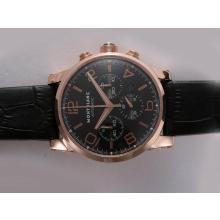 Replique Montblanc Time Walker Chronographe Suisse Valjoux 7750 Mouvement Boîtier en or rose avec cadran noir - Attractive Montblanc Time Walker montre pour vous 35960