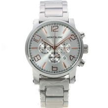 Replique Montblanc Time Walker travail Chronographe avec cadran argenté - Attractive Montblanc Time Walker montre pour vous 35954