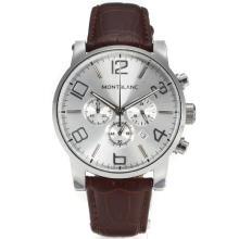 Replique Montblanc Time Walker travail Chronographe avec cadran blanc-bracelet en cuir - Attractive Montblanc Time Walker montre pour vous 35945