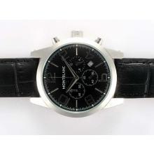 Replique Montblanc Time Walker travail Chronographe avec cadran noir - Attractive Montblanc Time Walker montre pour vous 35944