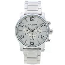 Replique Montblanc Time Walker automatique avec cadran argenté - Attractive Montblanc Time Walker montre pour vous 35941