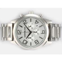 Replique Montblanc Time Walker travail Chronographe avec cadran argenté - Attractive Montblanc Time Walker montre pour vous 35940