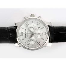 Replique Montblanc Time Walker Chronographe Suisse Valjoux 7750 Mouvement avec cadran argenté - Attractive Montblanc Time Walker montre pour vous 35939
