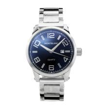 Replique Montblanc classique avec cadran noir S / S - Attractive Montblanc montre classique pour vous 35428