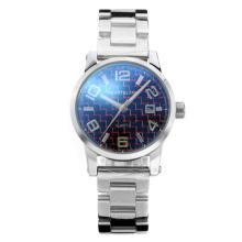 Replique Montblanc classique avec cadran noir S / S - Attractive Montblanc montre classique pour vous 35426