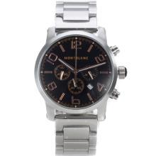 Replique Montblanc Time Walker travail Chronographe avec cadran Noir Marquage-Rose Gold - Attractive Montblanc Time Walker montre pour vous 35932