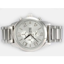 Replik Montblanc Time Walker Working Chronograph with Silver Dial – Attractive Montblanc Time Walker Watch for You 35927