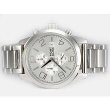 Replique Montblanc Time Walker travail Chronographe avec cadran argenté - Attractive Montblanc Time Walker montre pour vous 35927