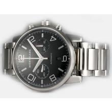 Replique Montblanc Chronograph Pilot Timewalker suisse Valjoux 7750 Mouvement avec cadran noir - Attractive Montblanc Time Walker montre pour vous 35925