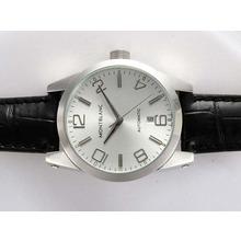 Replique Montblanc Time Walker automatique avec cadran argenté - Attractive Montblanc Time Walker montre pour vous 35919