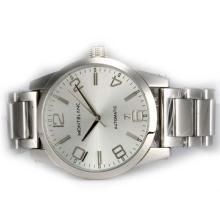 Replique Montblanc Time Walker automatique avec cadran argenté - Attractive Montblanc Time Walker montre pour vous 35913