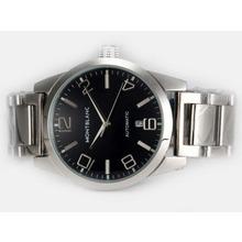 Replique Montblanc Time Walker automatique avec cadran noir - Attractive Montblanc Time Walker montre pour vous 35902
