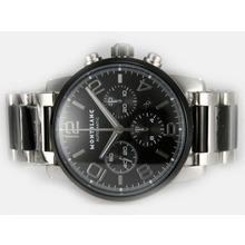 Replique Montblanc Time Walker Chronographe PVD suisse Valjoux 7750 Mouvement avec cadran noir - Attractive Montblanc Time Walker montre pour vous 35901