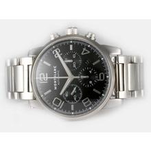 Replique Montblanc Time Walker Chronographe Suisse Valjoux 7750 Mouvement avec cadran noir - Attractive Montblanc Time Walker montre pour vous 35899