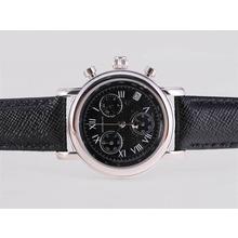 Replique Montblanc Star Chronograph de travail avec cadran noir et Strapl-Taille-Dame - Attractive Montblanc Star Montre pour vous 35883