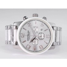 Replik Montblanc Time Walker Working Chronograph with Silver Dial – Attractive Montblanc Time Walker Watch for You 35873