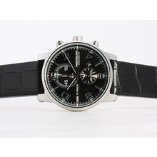 Replik Montblanc Flyback Working Chronograph Black Dial-New Version – Attractive Montblanc Flyback Watch for You 35858