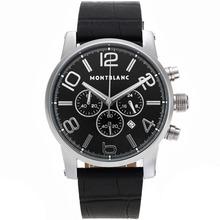 Replique Montblanc Time Walker travail Chronographe avec cadran noir-même que 7750 Structure-Haute Qualité - Attractive Temps Montblanc Montre Walker pour vous 35841