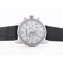 Replique Montblanc Time Walker travail Chronographe avec cadran blanc-même que 7750 Structure-Haute Qualité - Attractive Temps Montblanc Montre Walker pour vous 35840