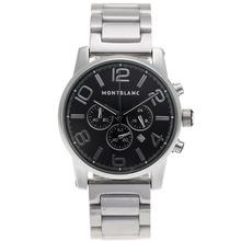 Replique Montblanc Time Walker travail Chronographe avec cadran noir-même que 7750 Structure-Haute Qualité - Attractive Temps Montblanc Montre Walker pour vous 35838