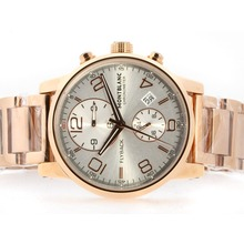 Replik Montblanc Flyback Automatic Full Rose Gold with White Dial – Attractive Montblanc Flyback Watch for You 35832