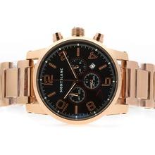 Replique Montblanc Time Walker travail chronographe en or rose complète, 7e édition limitée - Attractive Montblanc Time Walker montre pour vous 35814