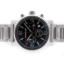 Replique Montblanc Time Walker travail Chronographe avec cadran noir-50th Edition Limitée - Attractive Temps Montblanc Montre Walker pour vous 35808