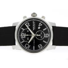 Replik Montblanc Classic Flyback Working Chronograph with Black Dial-Leather Strap – Attractive Montblanc Flyback Watch for You 35796