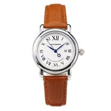 Replique Montblanc Star cadran blanc avec bracelet en cuir-Taille-Dame - Attractive Montblanc Star Montre pour vous 35745