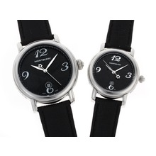 Replik Montblanc Star Black Dial with Leather Strap-Couple Watch – Attractive Montblanc Star Watch for You 35741