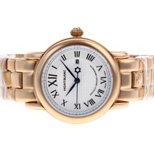 Replik Montblanc Star Full Rose Gold with White Dial-Lady Size – Attractive Montblanc Star Watch for You 35737