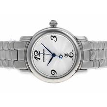 Replique Montblanc Star avec cadran argenté S / S-Taille-Dame - Attractive Montblanc Star Montre pour vous 35733