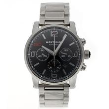 Replique Montblanc Time Walker Chronographe Suisse Valjoux 7750 Mouvement avec cadran noir édition limitée S/S-10th - Attractive Montblanc Time Walker montre pour vous 35704