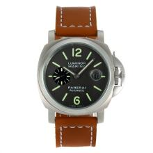 Replique Panerai Luminor Marina Automatic avec bracelet en cuir gris Dial-Brown - Attractive Panerai Luminor Marina Montre pour vous 31061