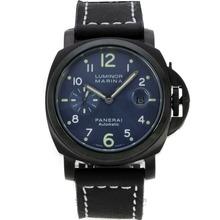 Replique Panerai Luminor Marina Automatic PVD avec bracelet en cuir cadran bleu-noir - Attractive Panerai Luminor Marina Montre pour vous 31035
