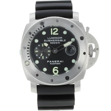 Replik Panerai Luminor Submersible Automatic with Black Dial-Rubber Strap – Attractive Panerai Luminor Submersible Watch for You 31033