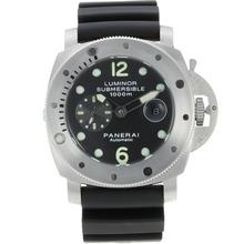 Replique Panerai Luminor Submersible automatique avec cadran noir-Bracelet Caoutchouc - Attractive Panerai Luminor Submersible Montre pour vous 31033